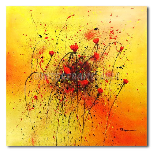 Poppies in Motion - Painting On Canvas at INTERFRAME-ASIA