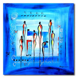 Blue Council - Painting On Canvas at INTERFRAME-ASIA