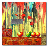 Fruits and Poppies - Painting On Canvas at INTERFRAME-ASIA