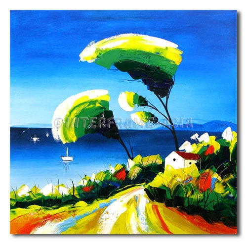 By the Sea Shore - Painting On Canvas at INTERFRAME-ASIA