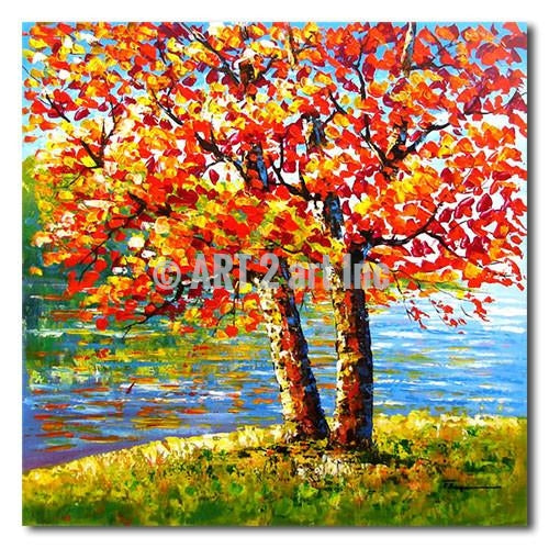 Proud Tree - Painting On Canvas at INTERFRAME-ASIA
