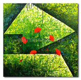 On Green Tiles - Painting On Canvas at INTERFRAME-ASIA