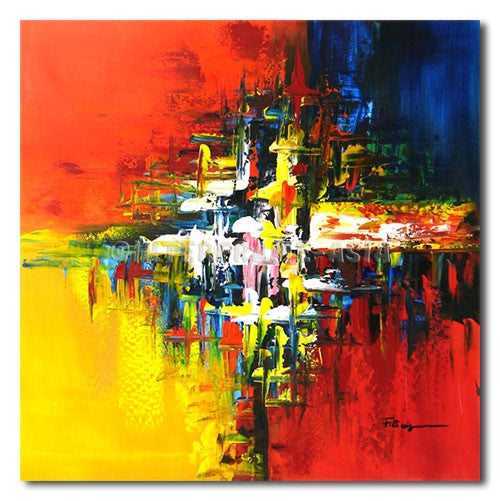 The plashing - Painting On Canvas at INTERFRAME-ASIA