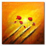 Shy Poppies - Painting On Canvas at INTERFRAME-ASIA