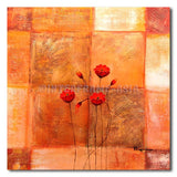 Peaches Poppies - Painting On Canvas at INTERFRAME-ASIA
