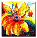 Wild Flowers & Poppies - Painting On Canvas at INTERFRAME-ASIA