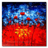 Family poppies - Painting On Canvas at INTERFRAME-ASIA