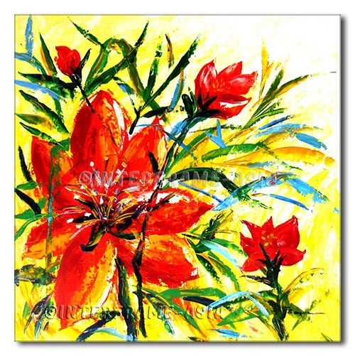Hawain Flowers - Painting On Canvas at INTERFRAME-ASIA