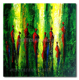 Red Models - Painting On Canvas at INTERFRAME-ASIA