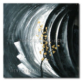 Gold Leaf in Gray - Painting On Canvas at INTERFRAME-ASIA