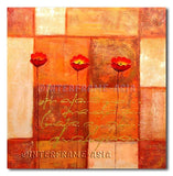 Poppies on tiles - Painting On Canvas at INTERFRAME-ASIA