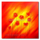 Red Family Daisies - Painting On Canvas at INTERFRAME-ASIA