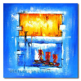 Travelling Ships - Painting On Canvas at INTERFRAME-ASIA