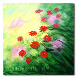 Windy Daisies - Painting On Canvas at INTERFRAME-ASIA