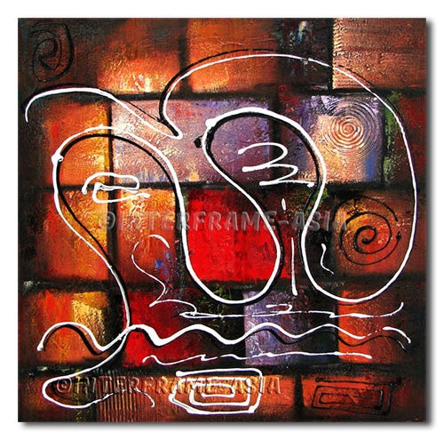 Curve Strings - Painting On Canvas at INTERFRAME-ASIA