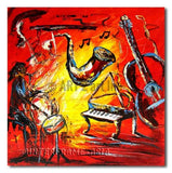 Music Band - Painting On Canvas at INTERFRAME-ASIA