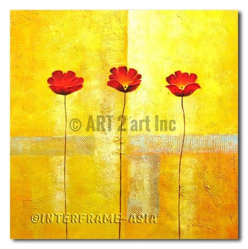 Gorgeous Poppies - Painting On Canvas at INTERFRAME-ASIA