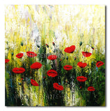 Poppies Dwelling - Painting On Canvas at INTERFRAME-ASIA