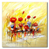 Poppies Reflecting - Painting On Canvas at INTERFRAME-ASIA