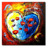 Hearted Poppies - Painting On Canvas at INTERFRAME-ASIA