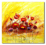 Poppies Party - Painting On Canvas at INTERFRAME-ASIA