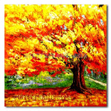 Great Yellow Tree - Painting On Canvas at INTERFRAME-ASIA