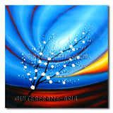 White Bloossom - Painting On Canvas at INTERFRAME-ASIA