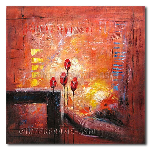Poppies Finds - Painting On Canvas at INTERFRAME-ASIA