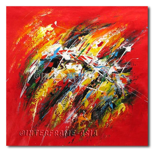 Stroke Clash - Painting On Canvas at INTERFRAME-ASIA