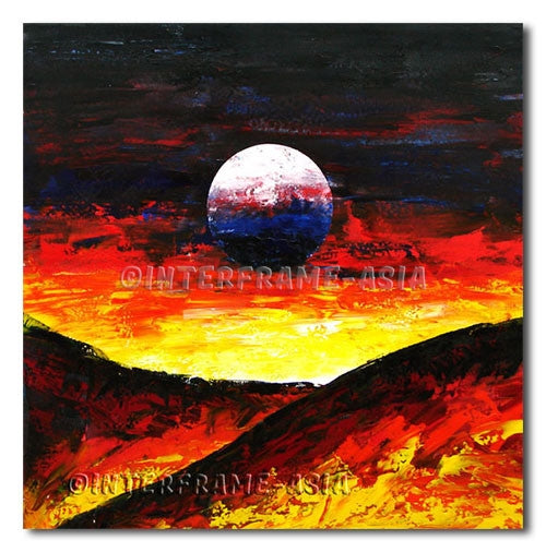 Dark Moon - Painting On Canvas at INTERFRAME-ASIA