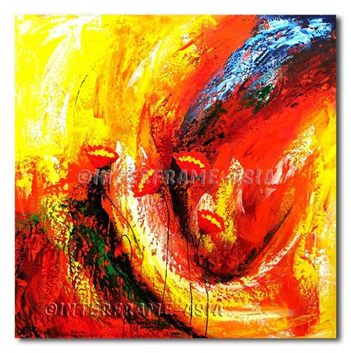 Poppy Embers - Painting On Canvas at INTERFRAME-ASIA