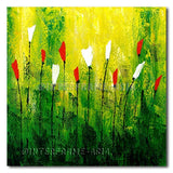 Forest Tulips - Painting On Canvas at INTERFRAME-ASIA