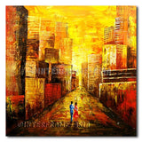 Date in the City - Painting On Canvas at INTERFRAME-ASIA