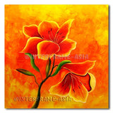 Hot Petals - Painting On Canvas at INTERFRAME-ASIA