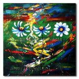 Mountain Daisies - Painting On Canvas at INTERFRAME-ASIA