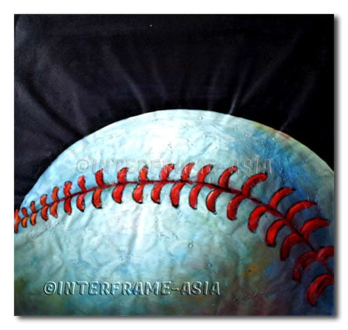 Baseball Stitches - Painting On Canvas at INTERFRAME-ASIA