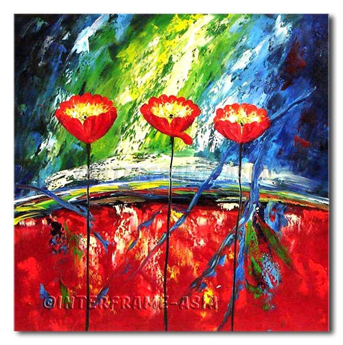 Tall Poppies - Painting On Canvas at INTERFRAME-ASIA
