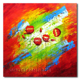 Poppies in the Wind - Painting On Canvas at INTERFRAME-ASIA