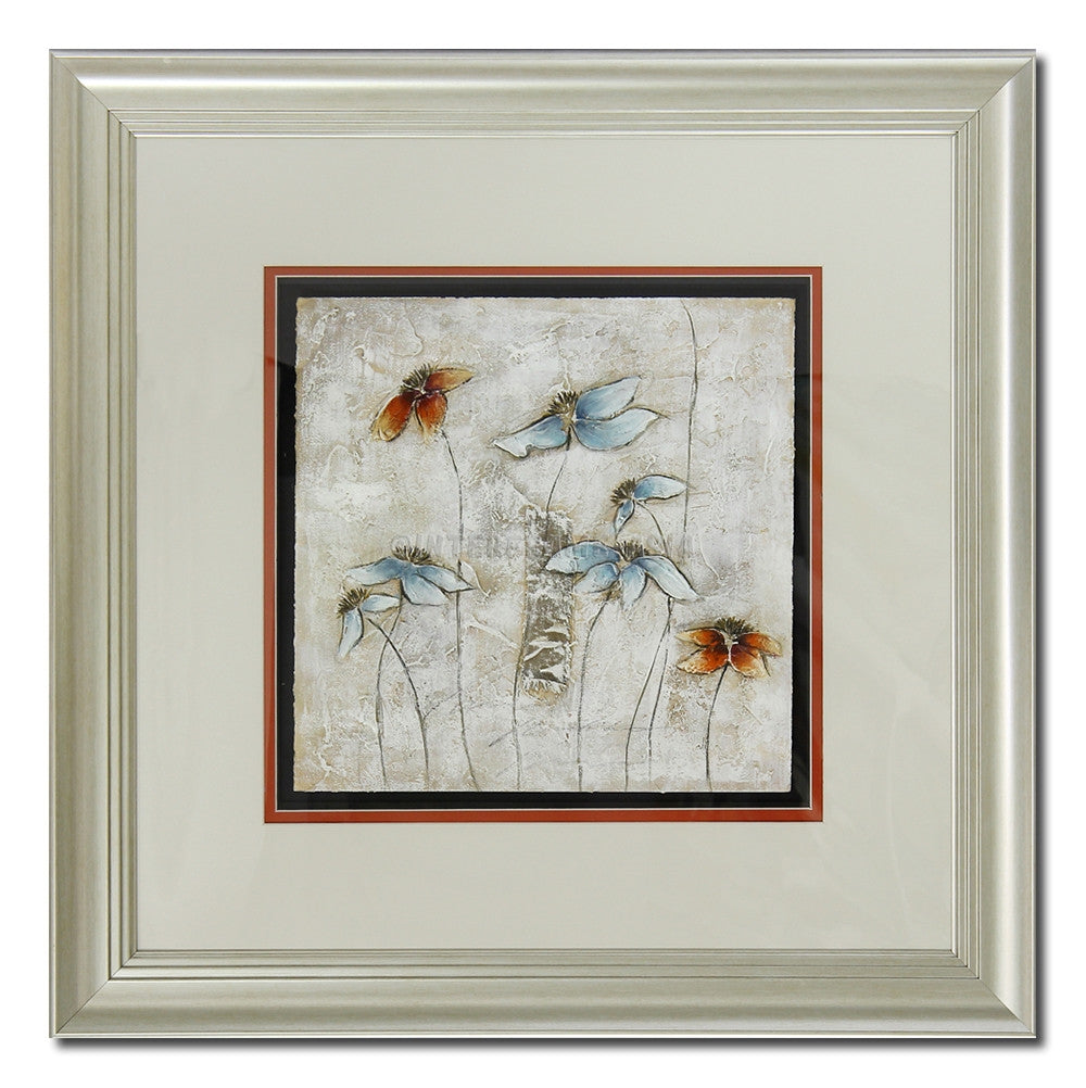 Butterfly Flowers (Framed)
