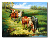 Thirsty Horses - Painting On Canvas at INTERFRAME-ASIA