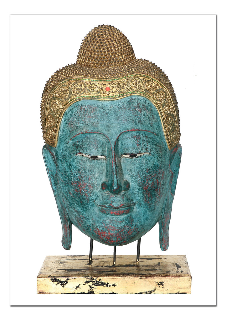 Buddha Head Sculpture I