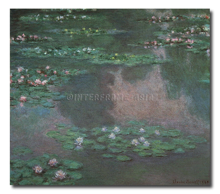 Pond of Water Lilies - Painting On Canvas at INTERFRAME-ASIA