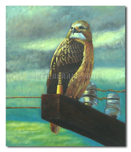 Falcon - Painting On Canvas at INTERFRAME-ASIA