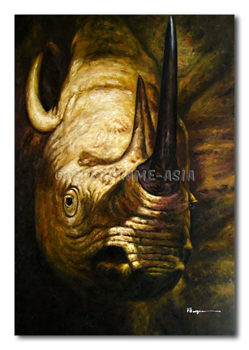 King Rhino - Painting On Canvas at INTERFRAME-ASIA