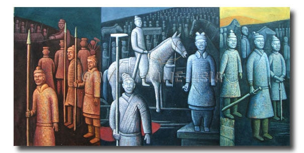 Stone Soldiers - Painting On Canvas at INTERFRAME-ASIA