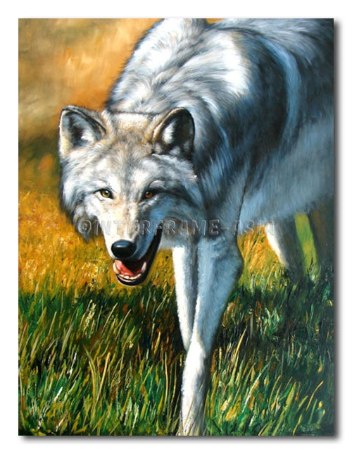 Wolf - Painting On Canvas at INTERFRAME-ASIA