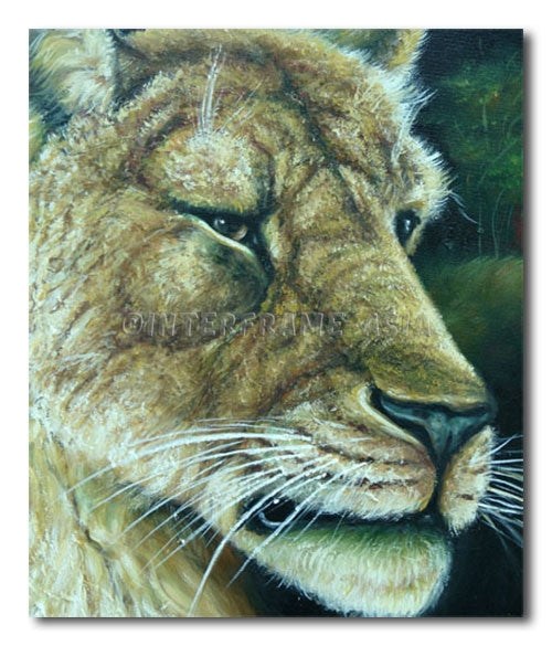 Tiger Face - Painting On Canvas at INTERFRAME-ASIA