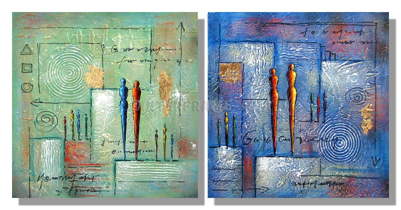 RD-409808T-2X50X50 - Painting On Canvas at INTERFRAME-ASIA