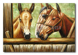 Brown Lucky Horses - Painting On Canvas at INTERFRAME-ASIA