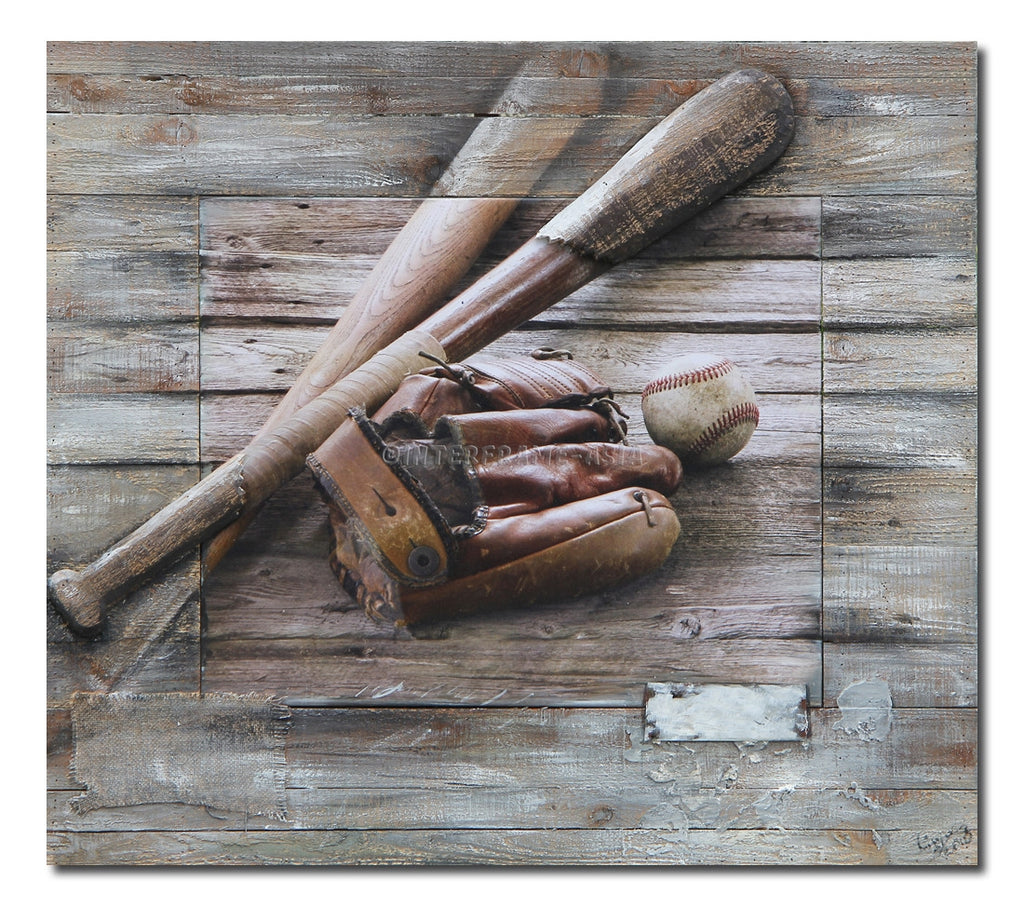 """Baseball"" - Painting On Canvas at INTERFRAME ASIA by Interframe-Asia"